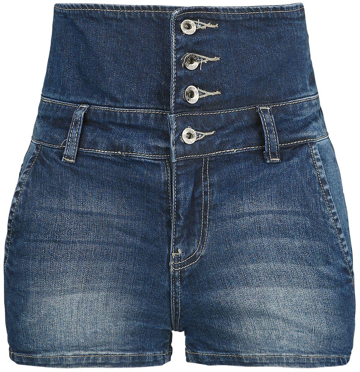 Image of   Forplay High Waist Denim Hot Pant Girlie hotpants blå