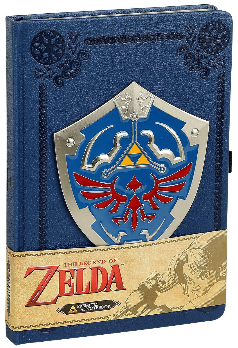 Image of   The Legend Of Zelda Metal Shield Notesbog multifarvet