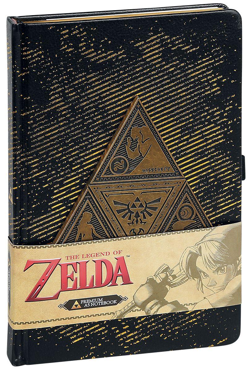Image of   The Legend Of Zelda Metal TriForce Notesbog multifarvet