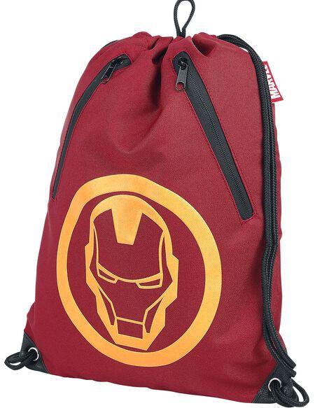 Marvel Iron Man Men's Rubber Print Gym Bag - Red