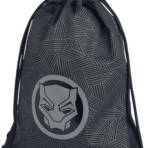 Marvel Black Panther Men's Rubber Print Gym Bag - Grey