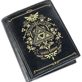 The Legend Of Zelda Hyrule Kingdom Portefeuille noir/or