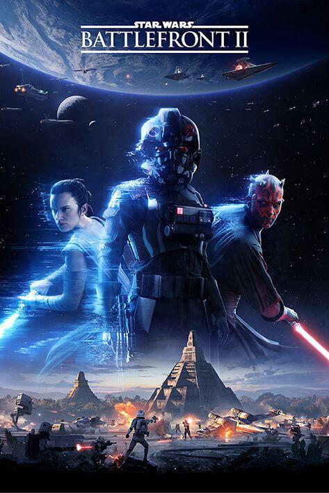 Image of   Star Wars Battlefront II Plakat multifarvet