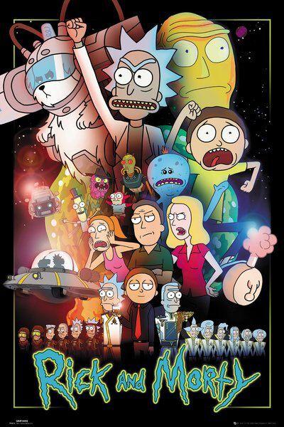 Image of   Rick And Morty Wars Plakat multifarvet