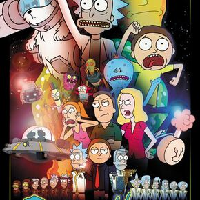 Rick and Morty Wars Maxi Poster 61 x 91.5cm