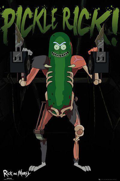 Image of   Rick And Morty Pickle Rick Plakat multifarvet
