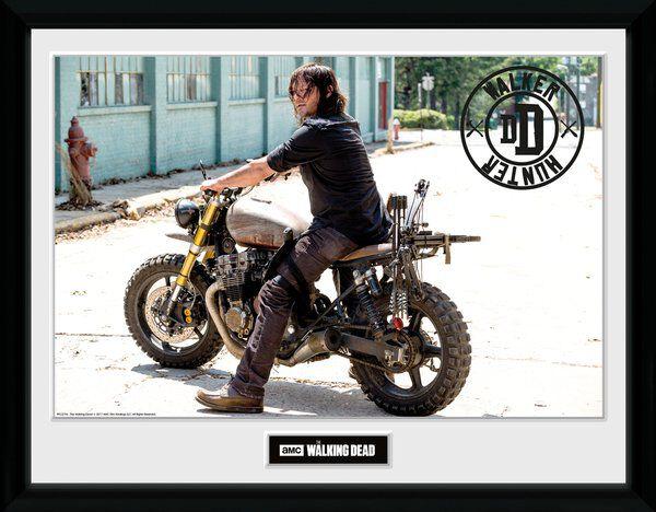 Image of   The Walking Dead Daryl Dixon - Bike Indrammet billede multifarvet