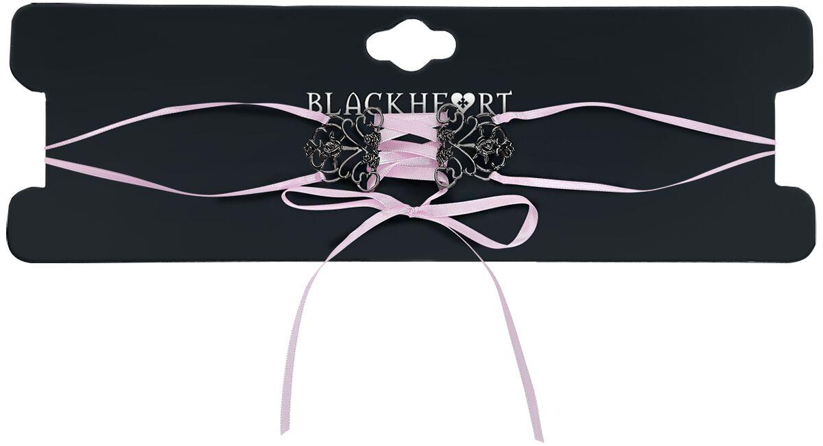 Image of   Blackheart Roses Halsbånd sort-pink