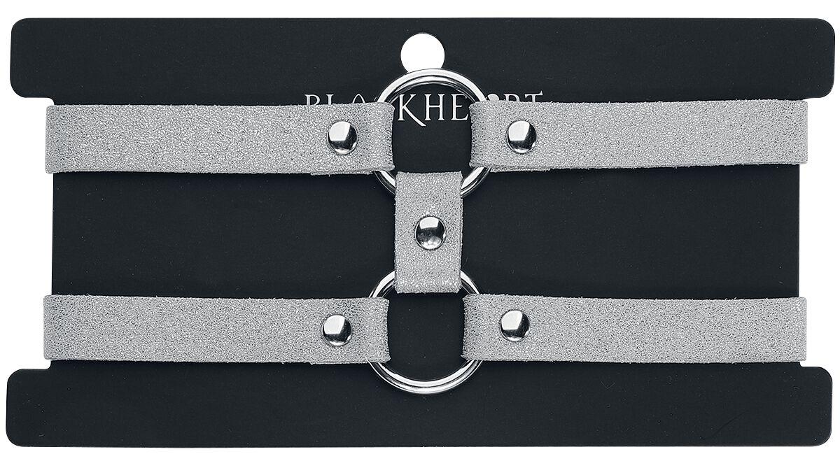 Image of   Blackheart Double Layer O-Ring Halsbånd sølvfarvet