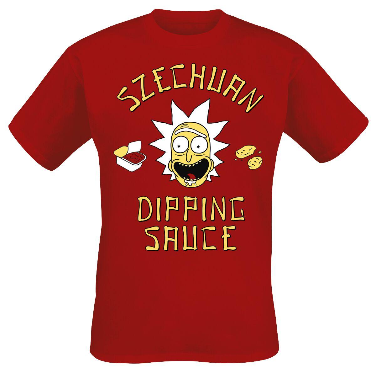 Image of   Rick And Morty Szechuan Dipping Sauce T-Shirt rød