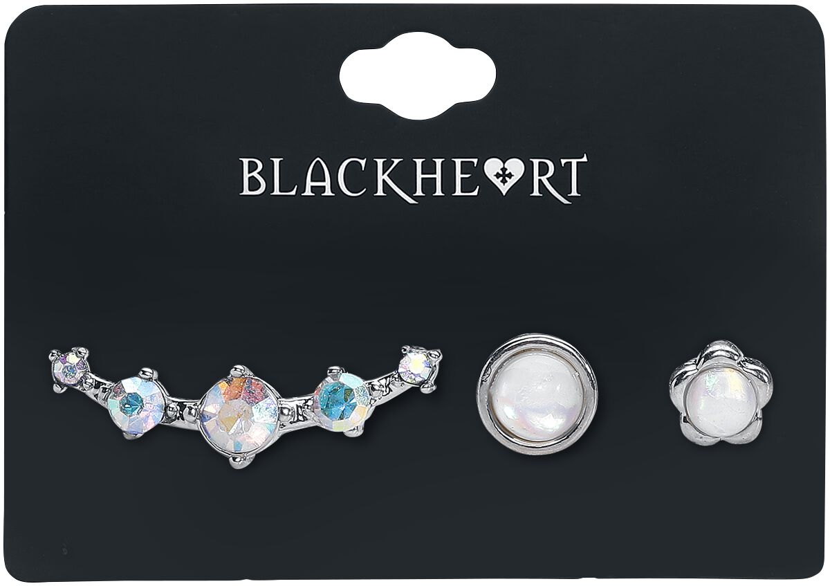 Blackheart White Opal and Diamond Piercing silb...