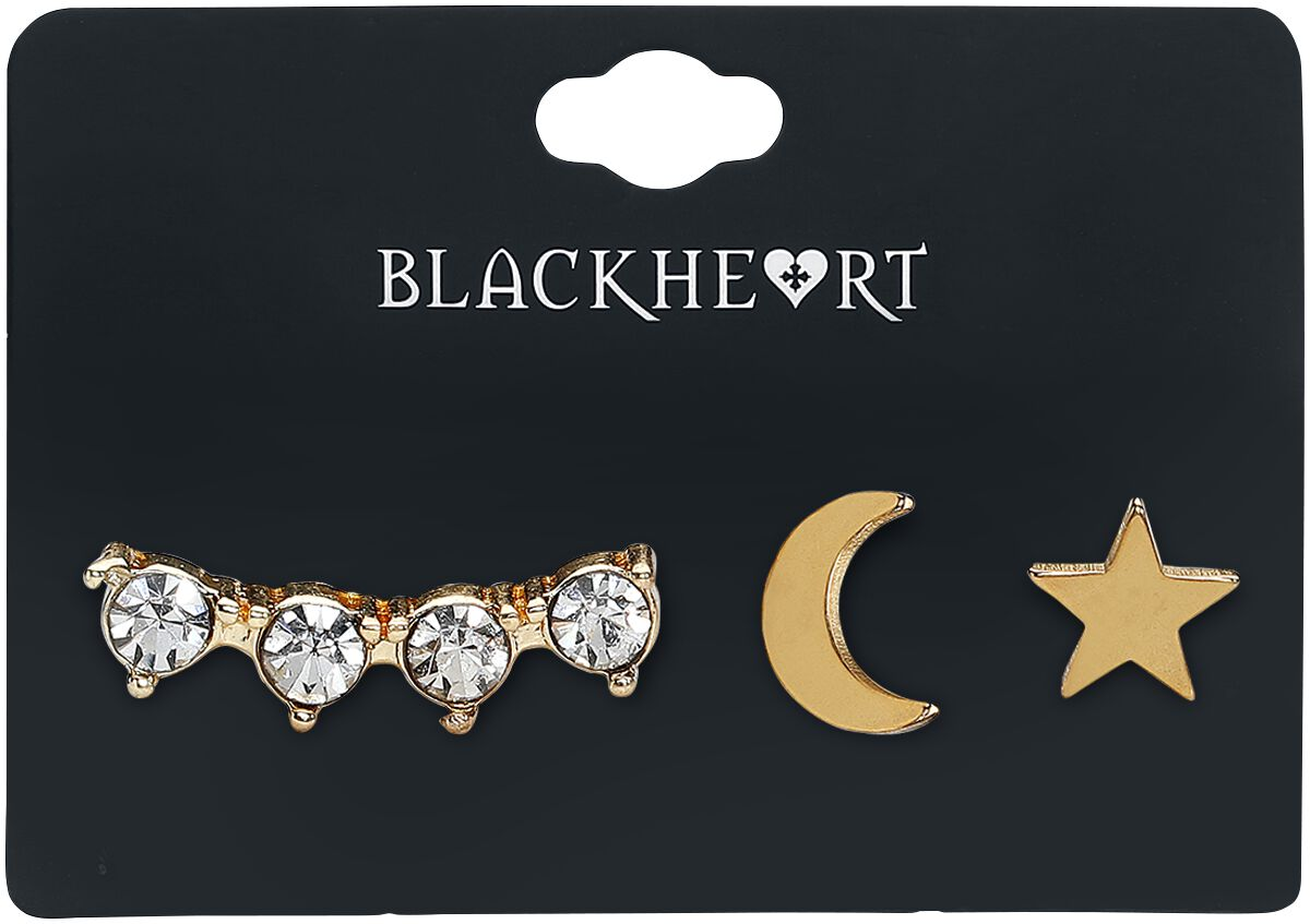 Image of   Blackheart Star & Moon Piercing guld