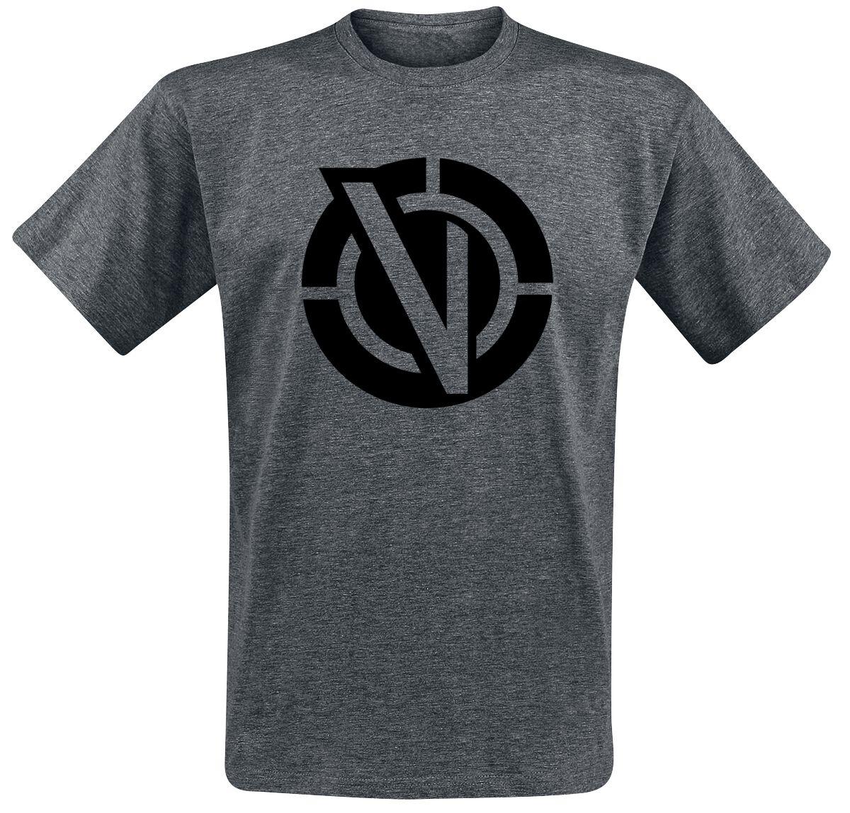 Image of   Rick And Morty Vindicators Logo T-Shirt mørk grålig