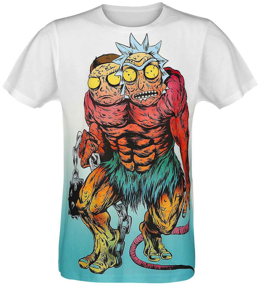 Image of   Rick And Morty Monster T-Shirt multifarvet
