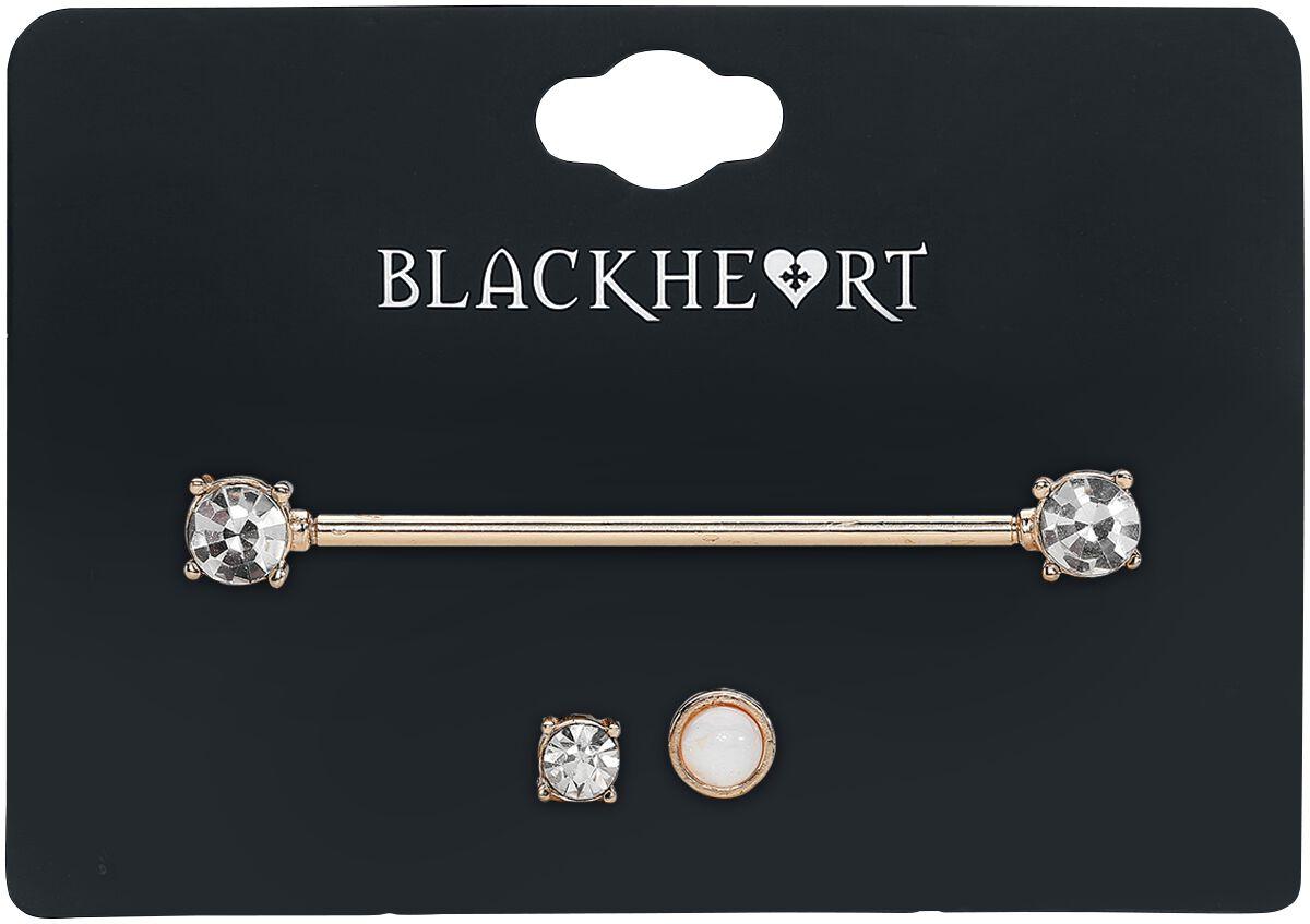 Image of   Blackheart Diamond Piercing guld