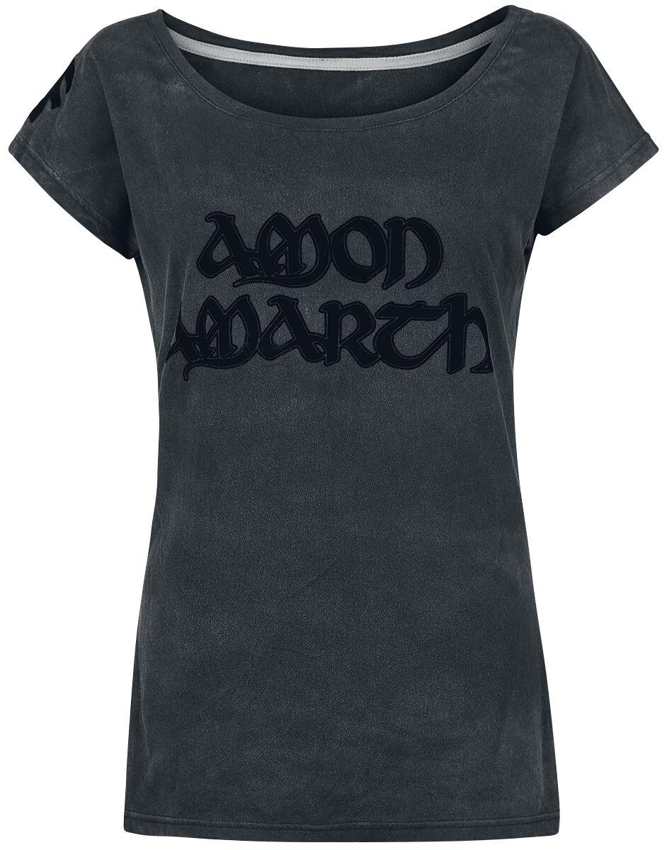 Image of   Amon Amarth EMP Signature Collection Girlie trøje mørk grå