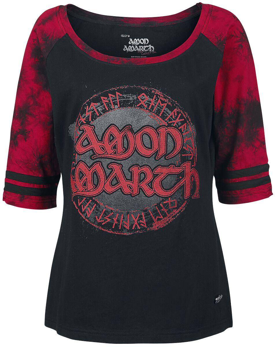 Image of   Amon Amarth EMP Signature Collection Girlie langærmet sort-rød