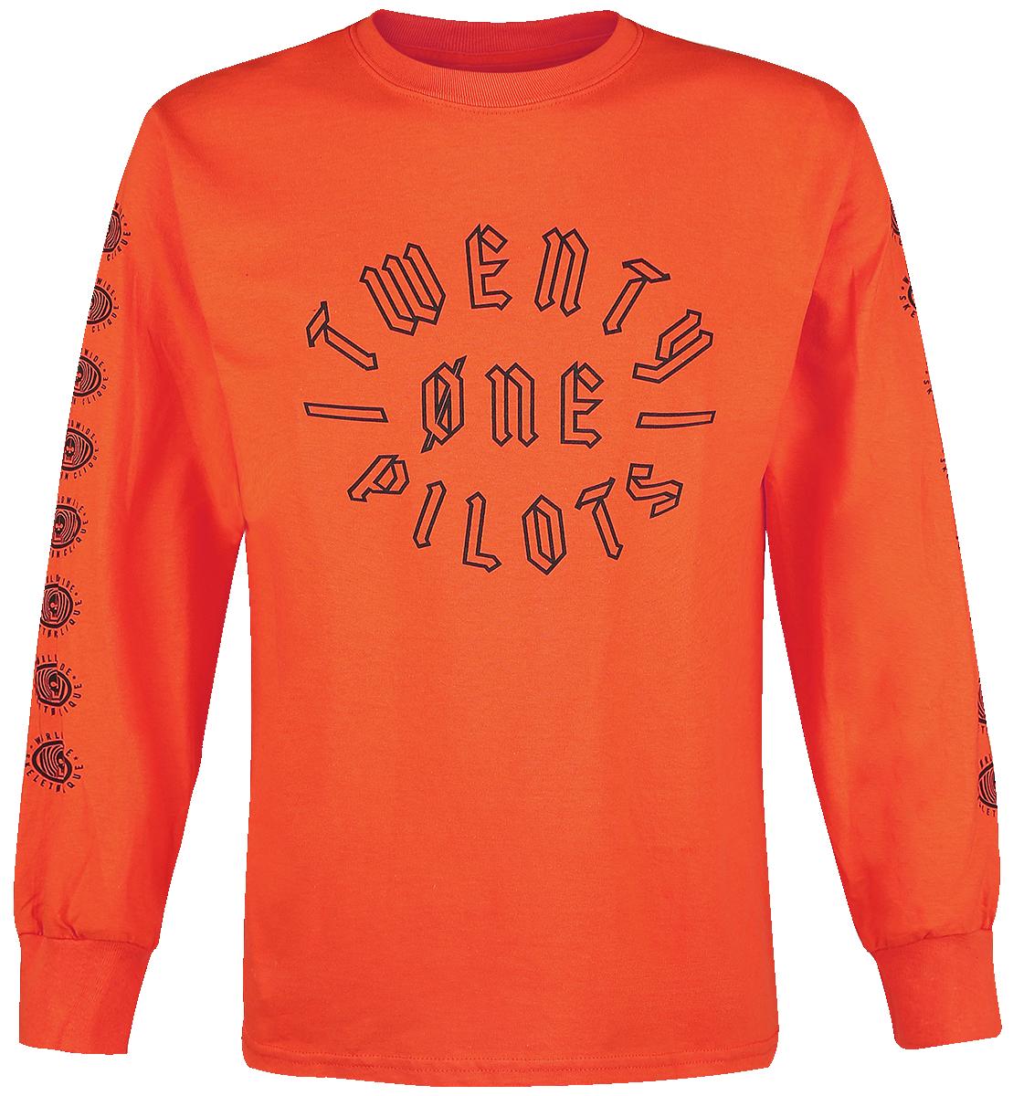 Twenty One Pilots - Worldwide Badge - Longsleeve - orange