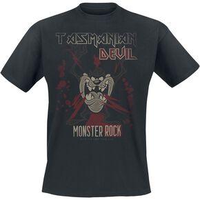 Looney Tunes Tasmanian Devil Monster Rock T-shirt noir