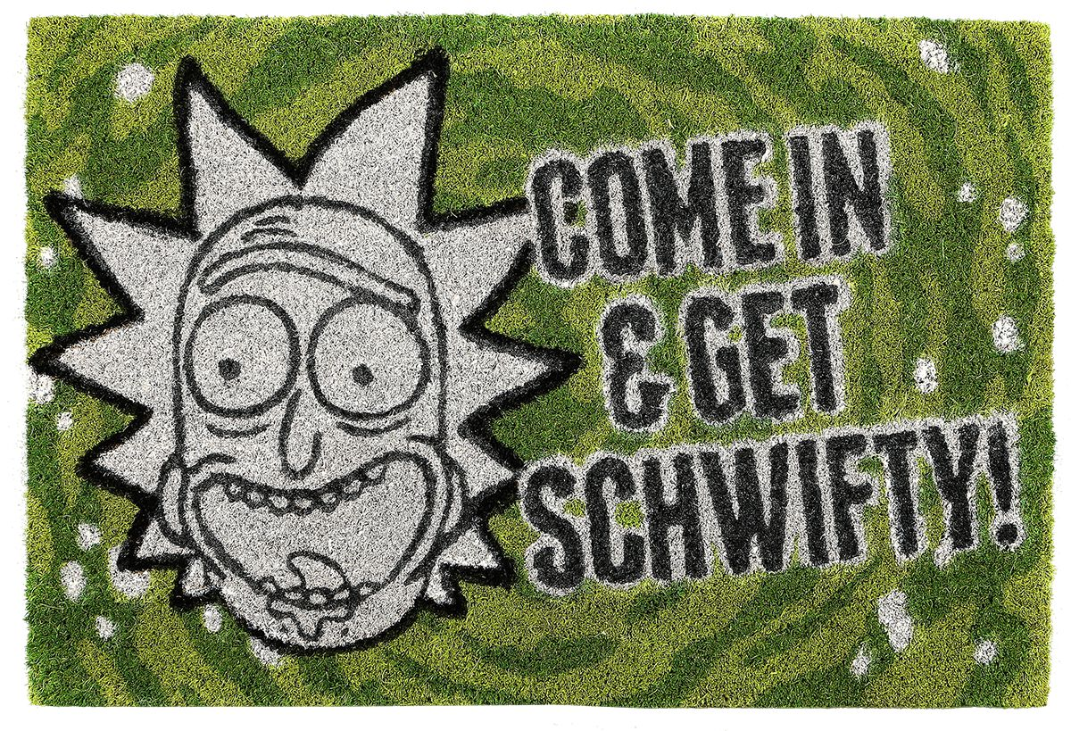 Image of   Rick And Morty Get Schwifty Dørmåtte multifarvet