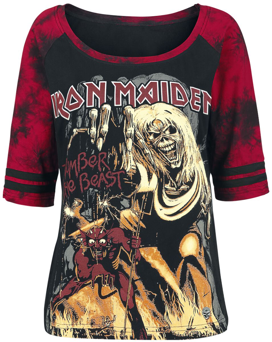 Image of   Iron Maiden EMP Signature Collection Girlie langærmet sort-rød