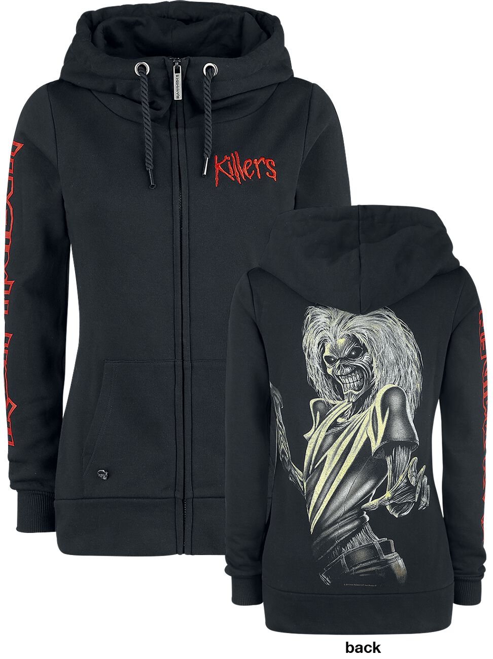Image of   Iron Maiden EMP Signature Collection Girlie hættejakke sort