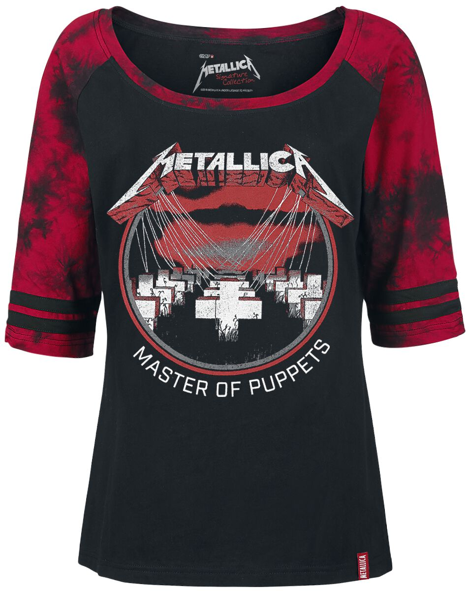 Image of   Metallica EMP Signature Collection Girlie langærmet sort-rød