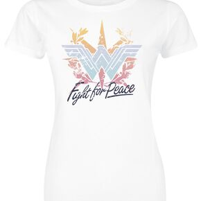 Wonder Woman Fight For Peace T-shirt Femme blanc