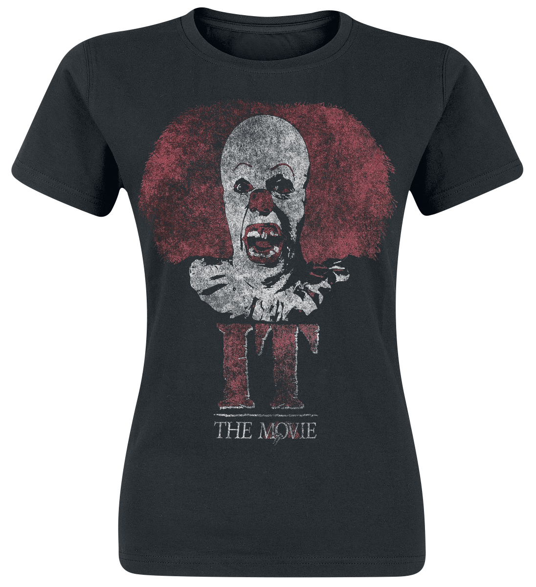 To - Stephen King Pennywise Clown Logo Koszulka damska czarny