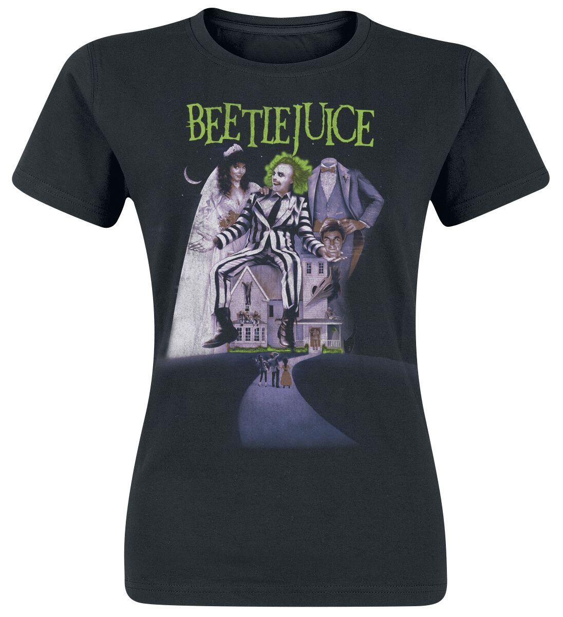Merch dla Fanów - Koszulki - Koszulka damska Beetlejuice Poster Koszulka damska czarny - 372758