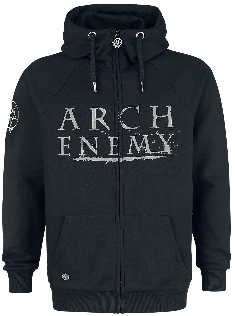 Zespoły - Bluzy z kapturem - Bluza z kapturem rozpinana Arch Enemy EMP Signature Collection Bluza z kapturem rozpinana czarny - 372762