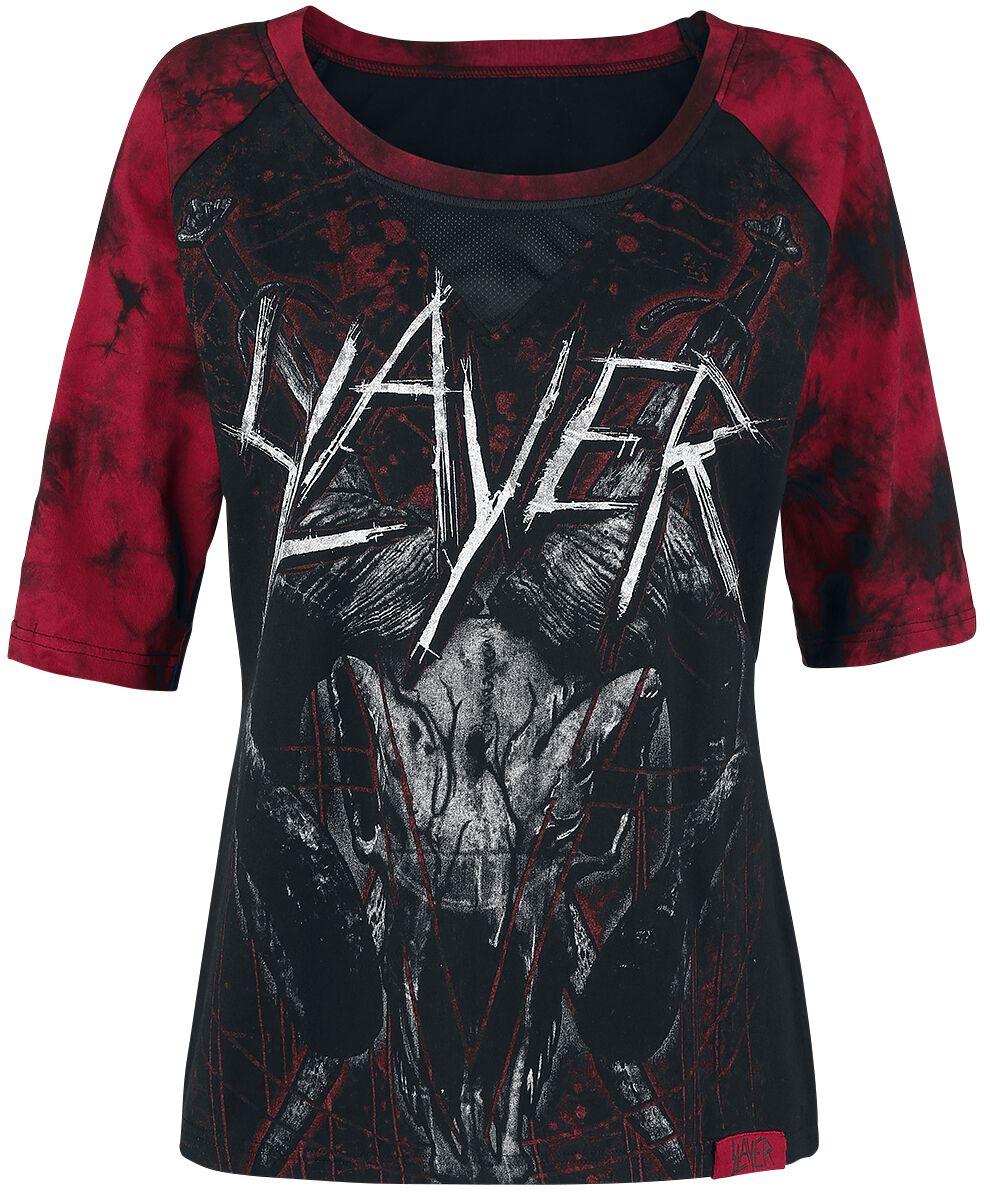 Image of   Slayer EMP Signature Collection Girlie langærmet sort-rød