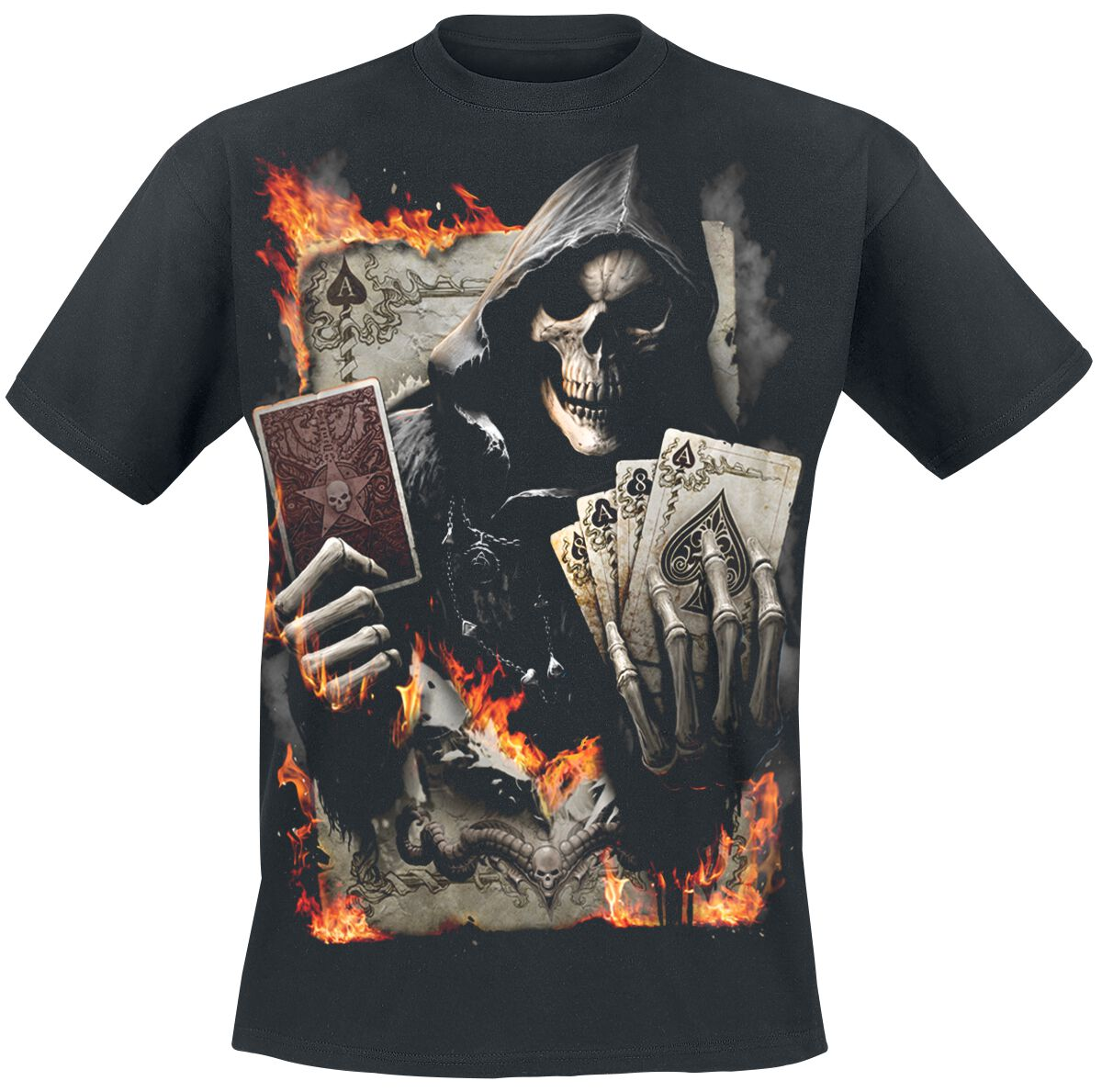 Image of   Spiral Ace Reaper T-Shirt sort