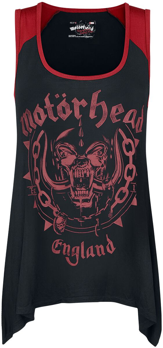 Image of   Motörhead EMP Signature Collection Girlie top sort-rød