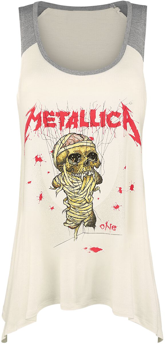 Image of   Metallica EMP Signature Collection Girlie top meleret creme/grå