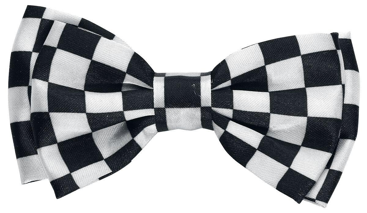 Basics - Ozdoby do włosów - Szpilka do włosów Checkered Satin Bow Szpilka do włosów czarny/biały - 372931