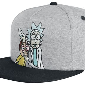 Rick and Morty Open Your Eyes Snapback - Grey
