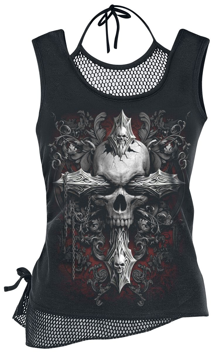 Image of   Spiral Cross of Darkness Girlie top sort