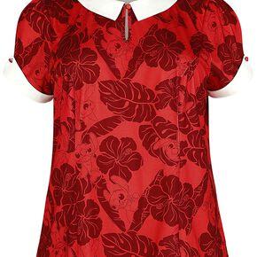 Lilo & Stitch Tropical T-shirt Femme rouge/blanc