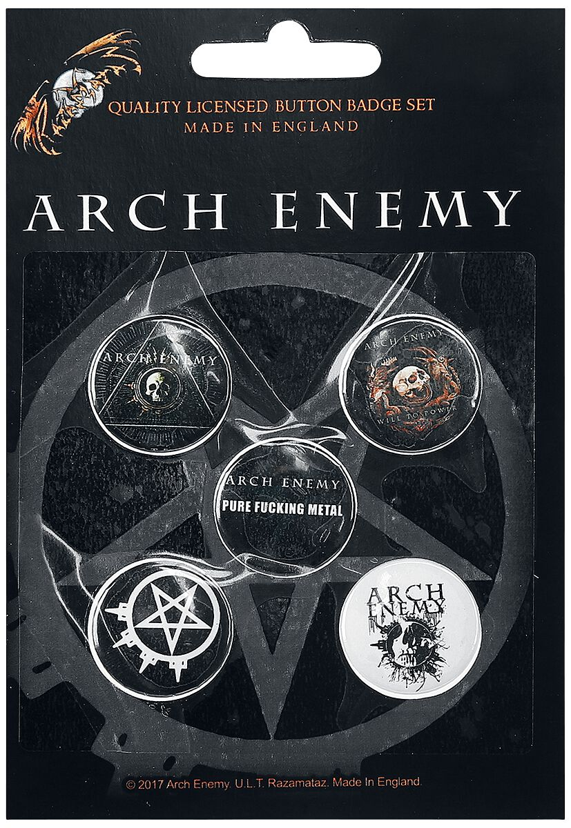 Image of   Arch Enemy Mix Badgepakke multifarvet