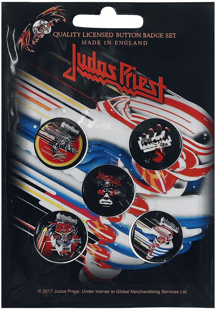 Image of   Judas Priest Mix Badgepakke multifarvet