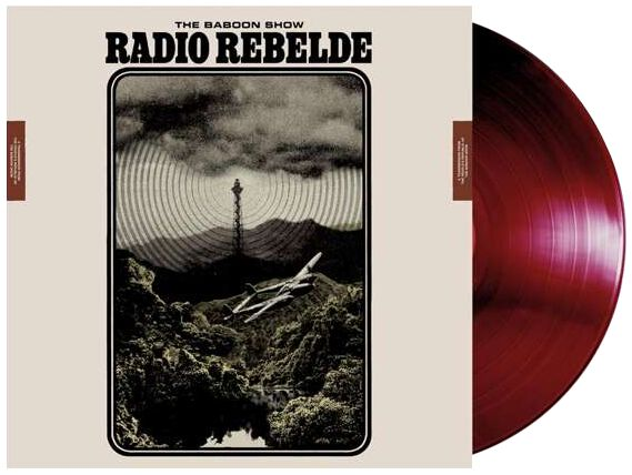 The Baboon Show Radio Rebelde LP burgund