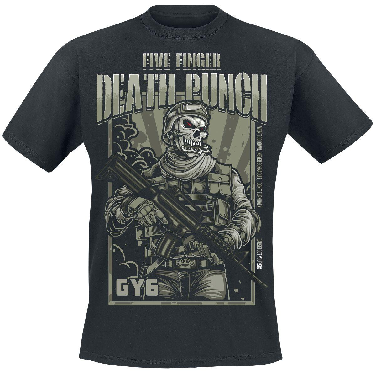 Image of   Five Finger Death Punch War Soldier Revised T-Shirt sort
