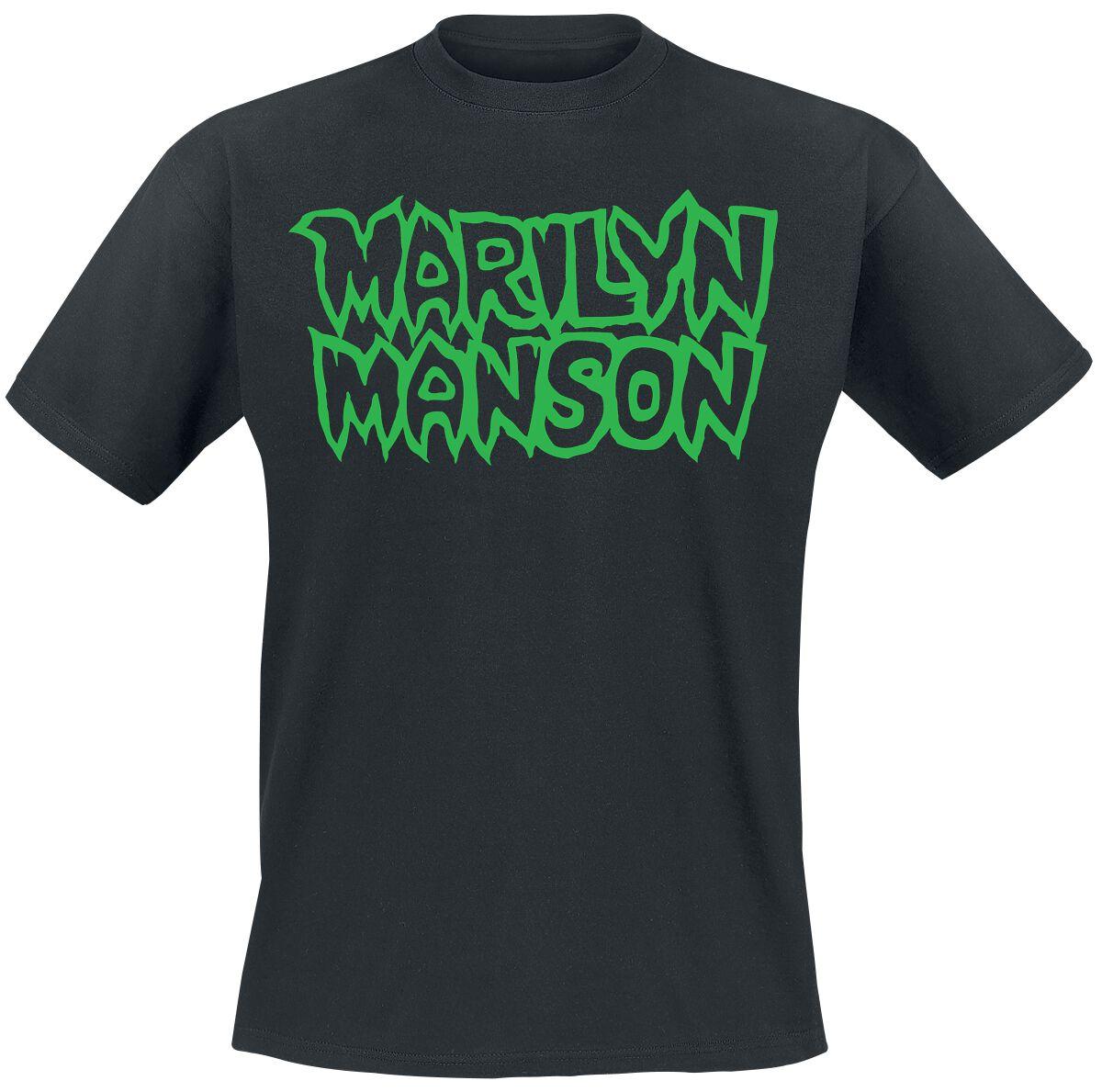 Zespoły - Koszulki - T-Shirt Marilyn Manson Classic Logo T-Shirt czarny - 373172