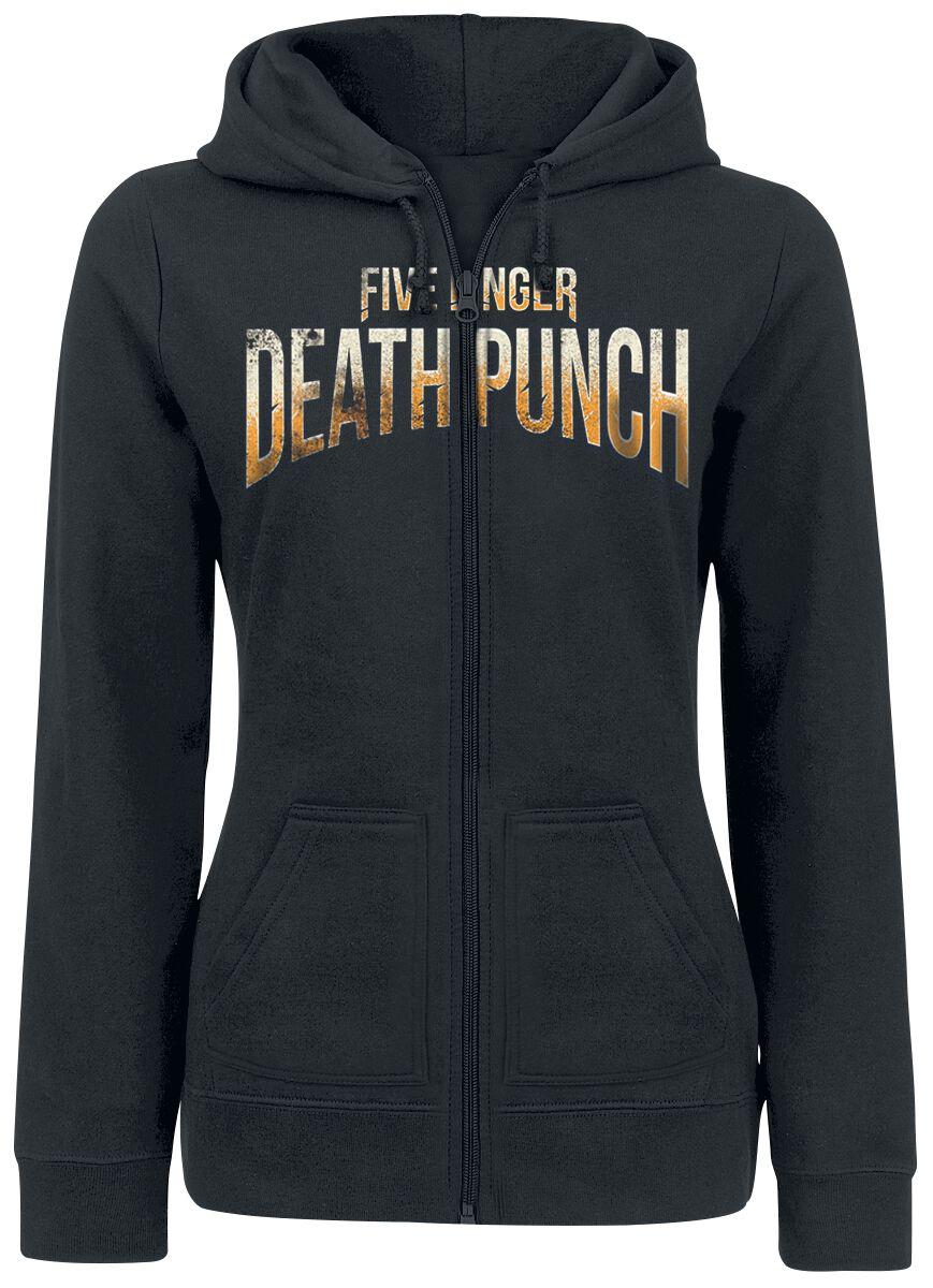 Image of   Five Finger Death Punch Grenade Shield Girlie hættejakke sort
