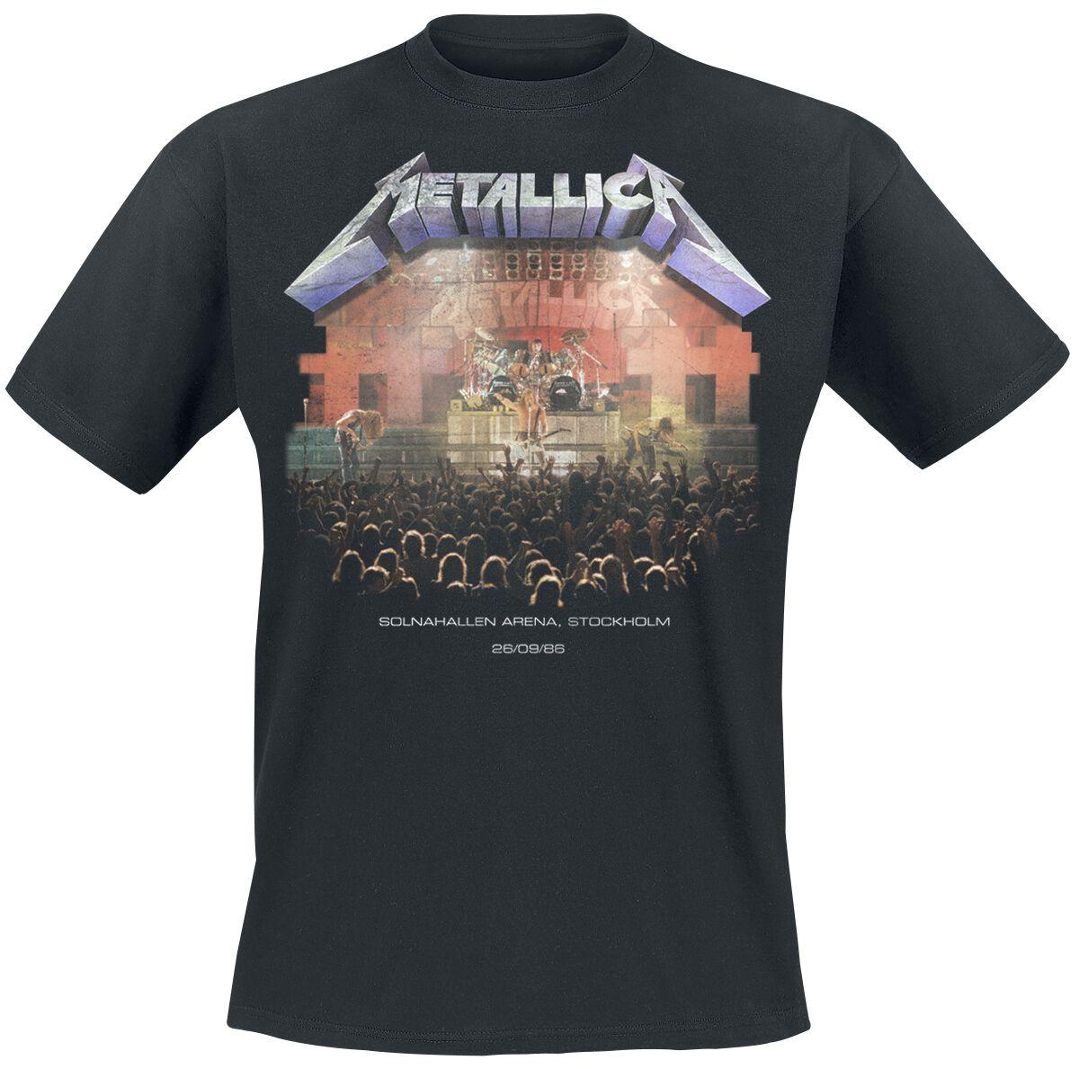 Metallica Stockholm ´86 - Männer - schwarz