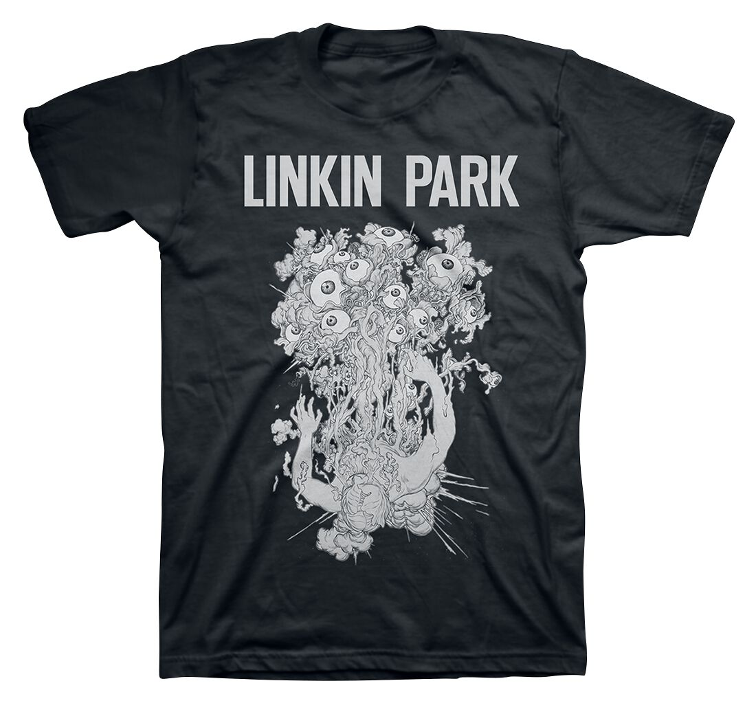 Image of   Linkin Park HT Eyeballs T-Shirt sort-hvid
