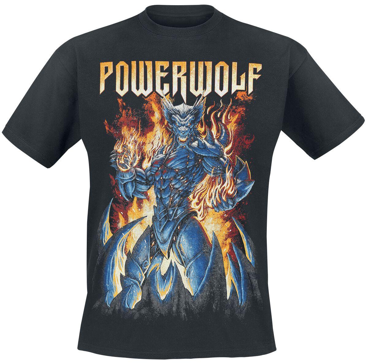 Image of   Powerwolf Robowolf T-Shirt sort