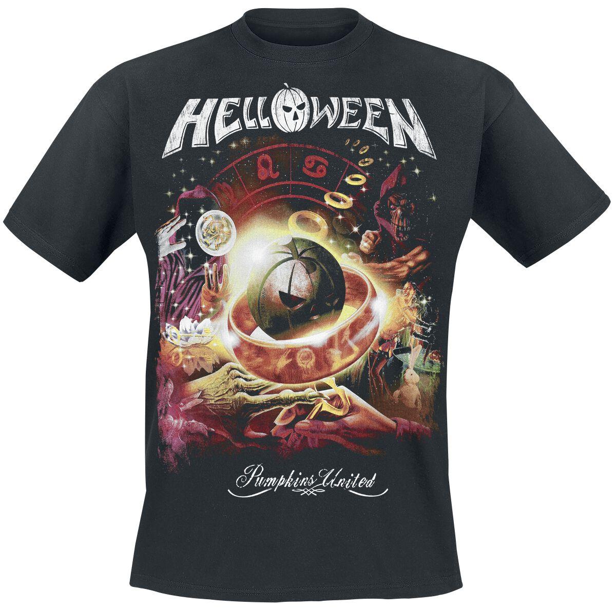 Zespoły - Koszulki - T-Shirt Helloween Tour Collage T-Shirt czarny - 373314