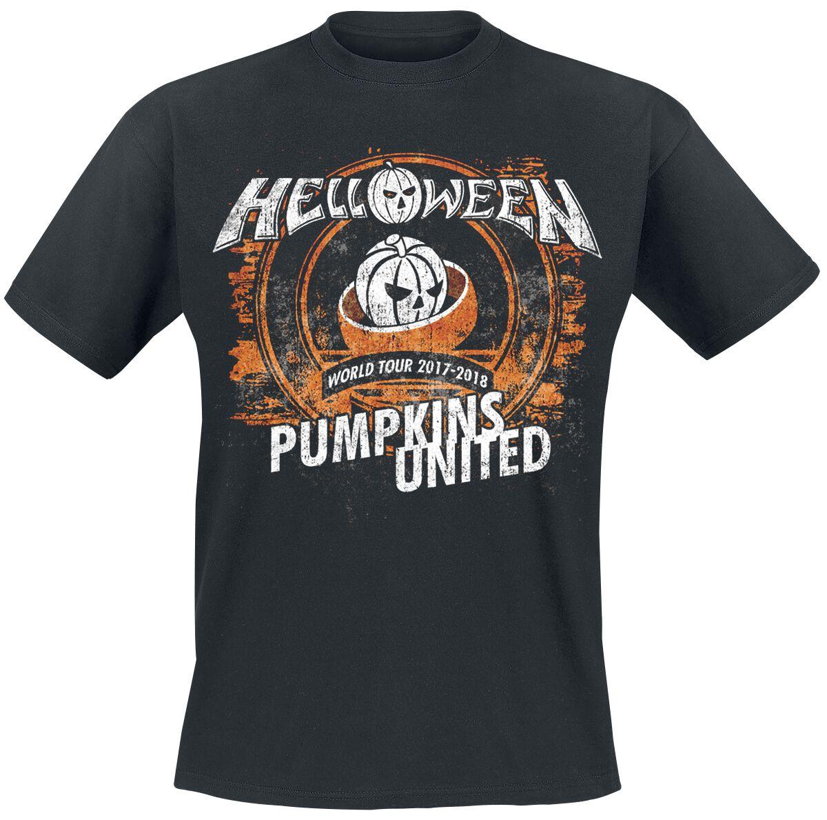 Zespoły - Koszulki - T-Shirt Helloween Tour Rings T-Shirt czarny - 373317